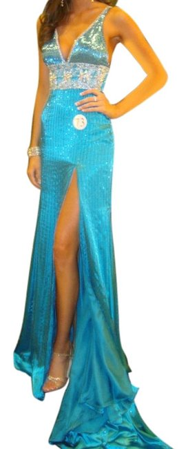 Preload https://item1.tradesy.com/images/prima-donna-pageant-gown-with-train-dress-turquoise-2209060-0-0.jpg?width=400&height=650