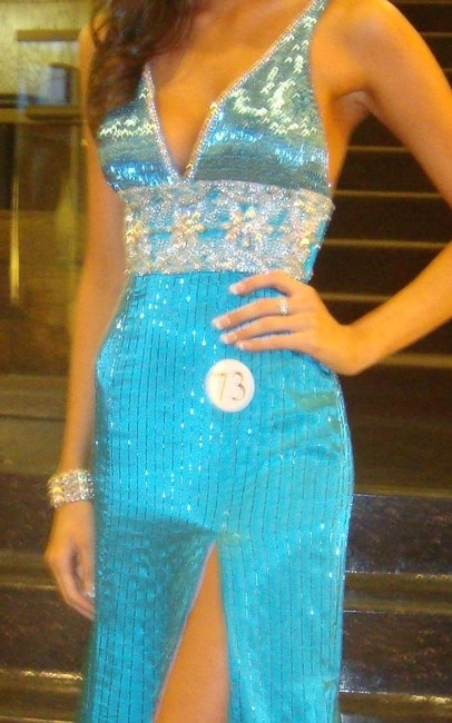 Prima Donna Pageant Gown With Train Dress