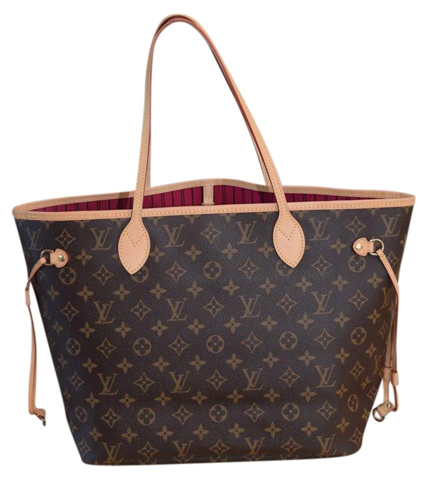 bd3a95b90256 Louis Vuitton Lv Neverfull Mm Neverfull Gm Damier Tote in Monogram with Pink  lining Image 0 ...