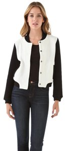Opening Ceremony Bomber Vintage Color-blocking Knit Cotton Black and White Jacket