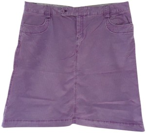 Gap A-line Summer Winter Corduroy Skirt Purple