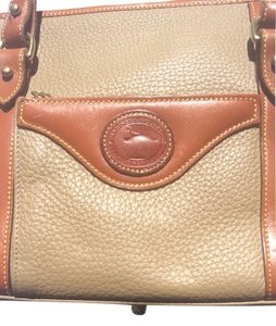 Dooney & Bourke Tote in British Tan Piping, Taupe Base