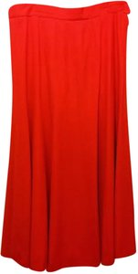 Escada Wool Knee Length Skirt Red