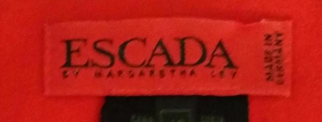 Escada Wool Skirt Red