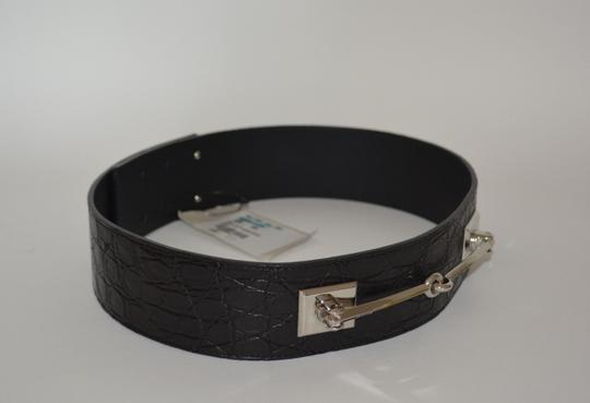 Gucci NWT GUCCI CROCODILE LEATHER HORSEBIT WAIST BELT SZ 34 85 MADE IN ITALY Image 3