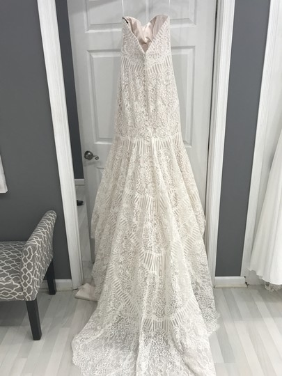 Allure Bridals Champagne/Ivory Lace 9259 Formal Wedding Dress Size 8 (M) Image 1