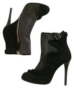 Thakoon Suede Leather Ankle black Boots
