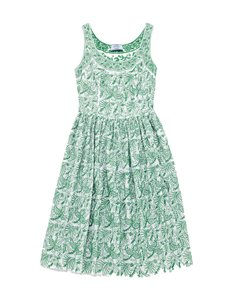 Prada short dress Green and white Embroidered Vintage Fit Flare Summer on Tradesy