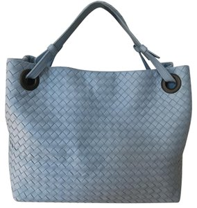 Bottega Veneta Blue Lambskin New Shoulder Bag
