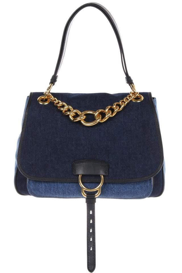 Miu Miu Dahlia Blue Denim Shoulder Bag - Tradesy 83076332db668