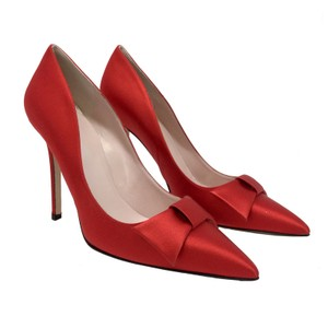 Kate Spade New Bow Satin Red Pumps