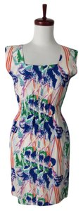 Tucker Floral Sleeveless Silk Dress