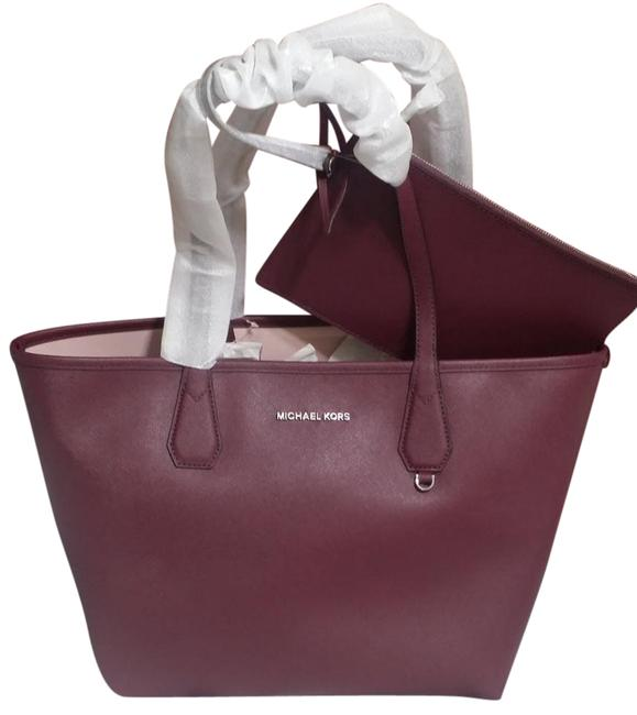 Item - Reversible Candy W W/Pouch Plum Blossom Pink Canvas Tote