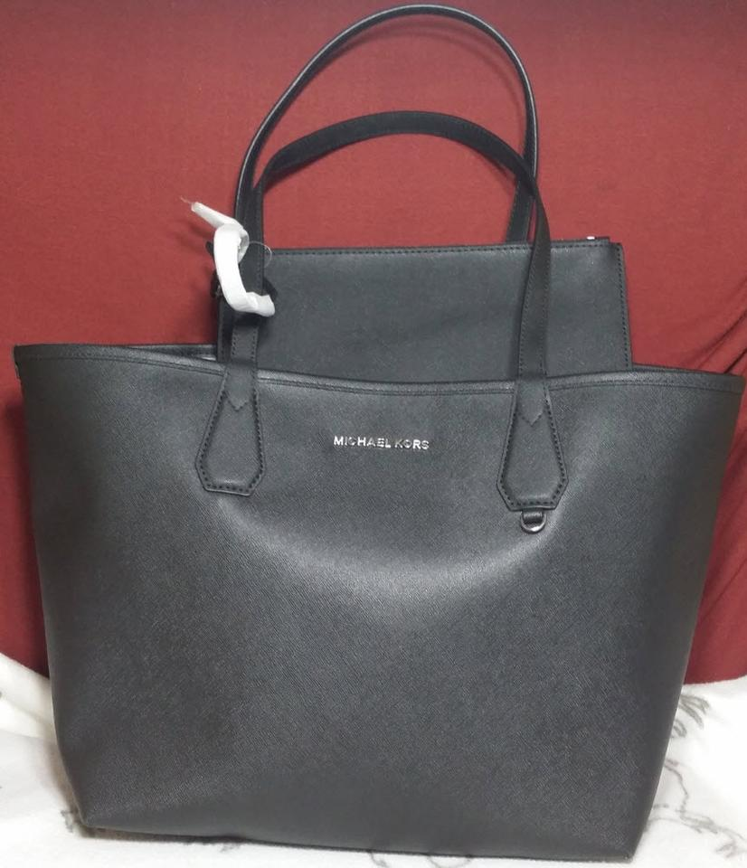 168de2ffa75719 Michael Kors Candy Reversible Includes Pouch Red Tote in black gray.