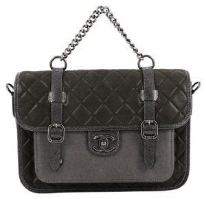 Chanel Calfskin dark grey Messenger Bag