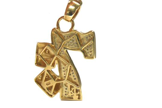 Other 10K Yellow Gold Franco Chain with Lucky 7 Gambling Diamond Pendant Image 6
