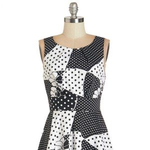 Modcloth short dress Black and White on Tradesy