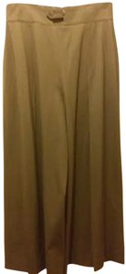 Escada Gauchos Calf Length Skirt Olive