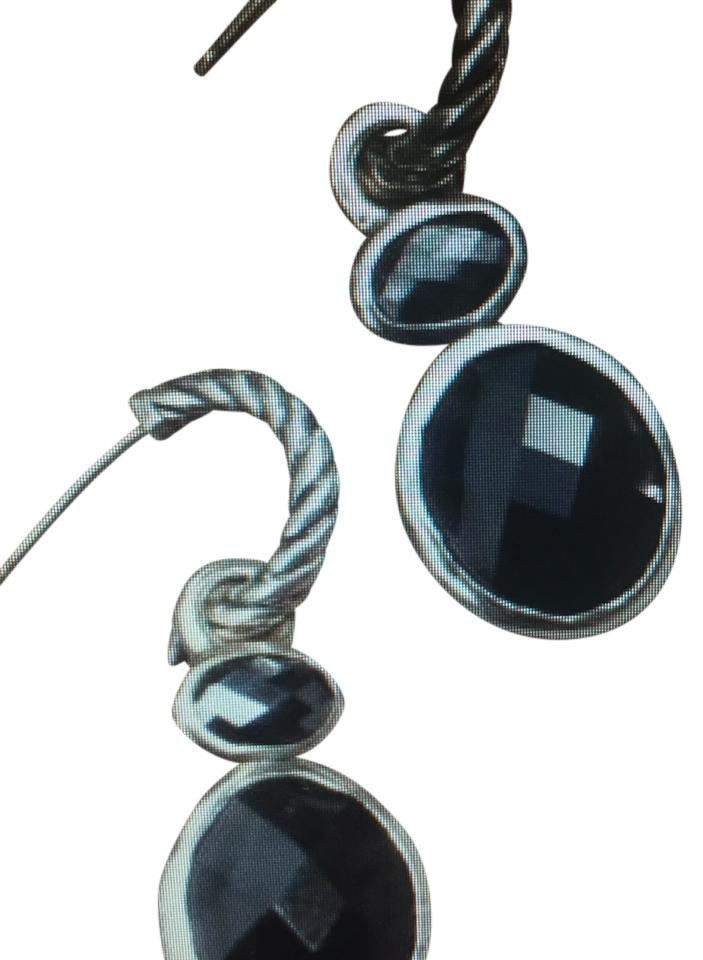 hematite yurman earrings i and david dangle onyx