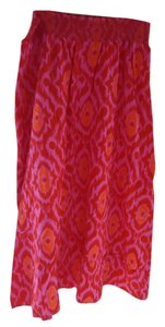 Old Navy Summer Maxi Maxi Skirt Hot Pink/Orange