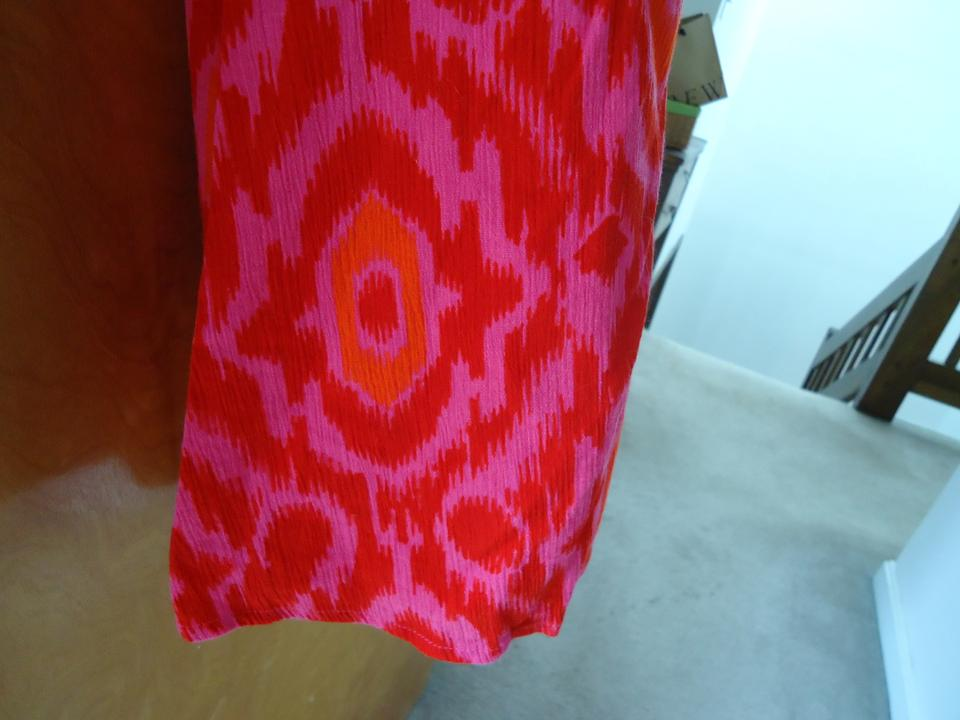 6854649a9 Old Navy Hot Pink/Orange Gauze In Print Skirt Size 16 (XL, Plus 0x ...