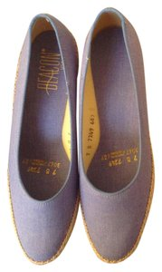 Beacon Reflections Light Blue Espadrille Wedges