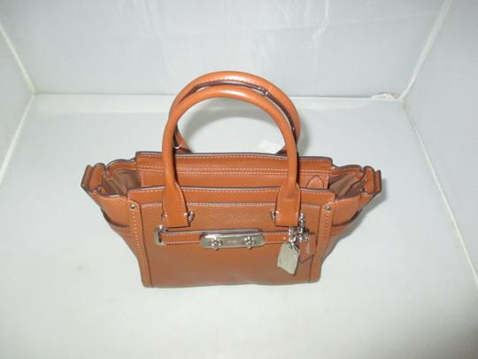 Coach Next Day Shipping Satchel in Saddle Image 3