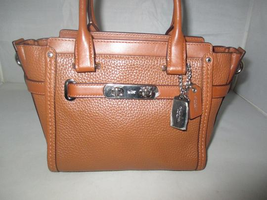 Coach Next Day Shipping Satchel in Saddle Image 4