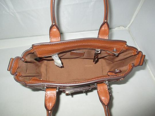 Coach Next Day Shipping Satchel in Saddle Image 5
