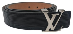 Louis Vuitton LV Initiales Epi Black Leather 30MM Belt