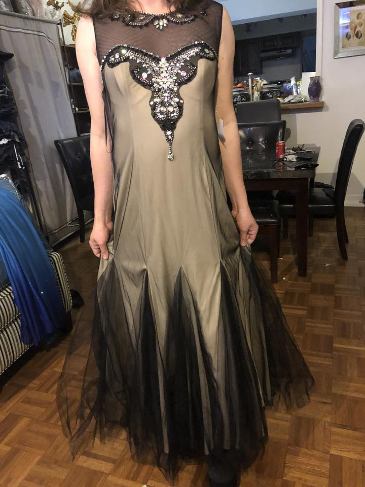 DEB Tan Floor Length Evening Gown Long Formal Dress Size 22 (Plus 2x ...