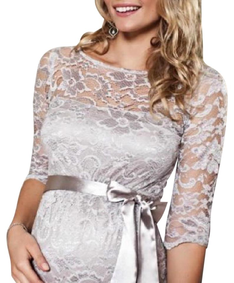 Silvergrey Amelia Silvergrey Lace Maternity Mid Length Cocktail Dress Size 4 S 60 Off Retail