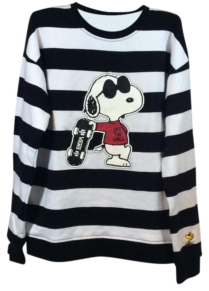 36fdf719593d Vans Women's X Peanuts Joe Cool Crew Sweatshirt Black and White ...