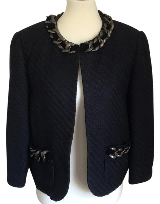 Item - Black Chain Trim Blazer Size 16 (XL, Plus 0x)