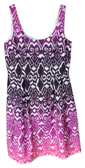 Ann Taylor short dress Purple Ikat Ombre Spring on Tradesy