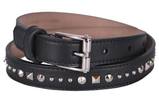 Gucci NWT GUCCI STUDDED LEATHER SKINNY BELT SZ 30 75 MADE IN ITALY Image 1