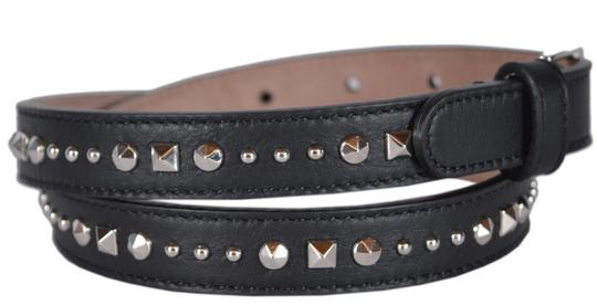 Gucci NWT GUCCI STUDDED LEATHER SKINNY BELT SZ 30 75 MADE IN ITALY Image 2