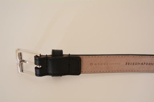 Gucci NWT GUCCI STUDDED LEATHER SKINNY BELT SZ 30 75 MADE IN ITALY Image 3