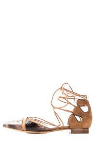 Alexandre Birman Brown & Tan Flats