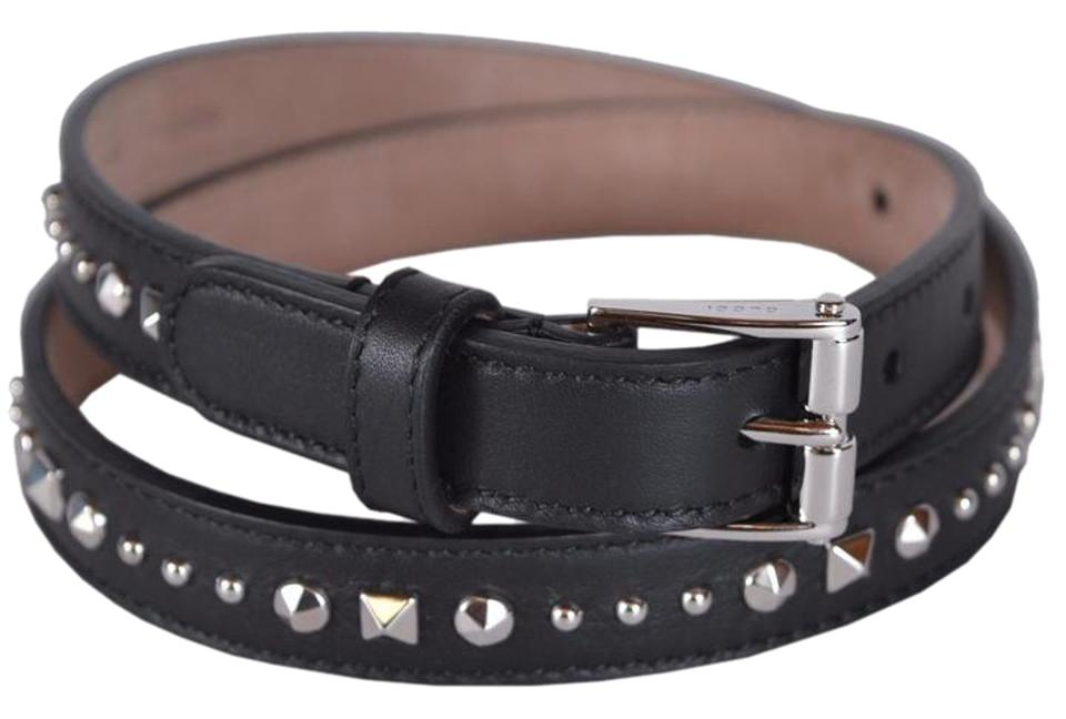 10c448aad98 Gucci NWT GUCCI STUDDED LEATHER SKINNY BELT SZ 32 80 MADE IN ITALY Image 0  ...