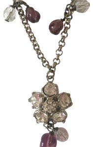 Salvatore Ferragamo Flower gemstone necklace