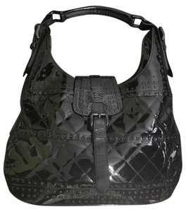Burberry Tote Quilted Patent Leather Shoulder Bag