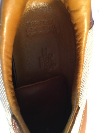 Hermès BROWN LEATHER & TAN FABRIC Athletic Image 6