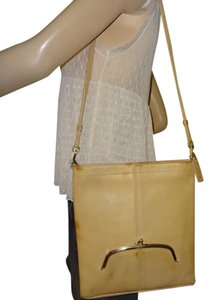 COACH Early Vintage 1960's Style Bonnie Cashin Kiss-lock Pocket Slim Tote Shoulder Bag