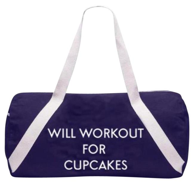 Item - Will Workout For Cupcakes Denim Blue Weekend/Travel Bag