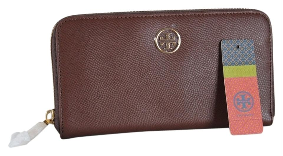 253225d208fa Tory Burch 100% AUTHENTIC TORY BURCH ROBINSON SMALL LOGO ZIP AROUND  CONTINENTAL WALLET  50009063 ...