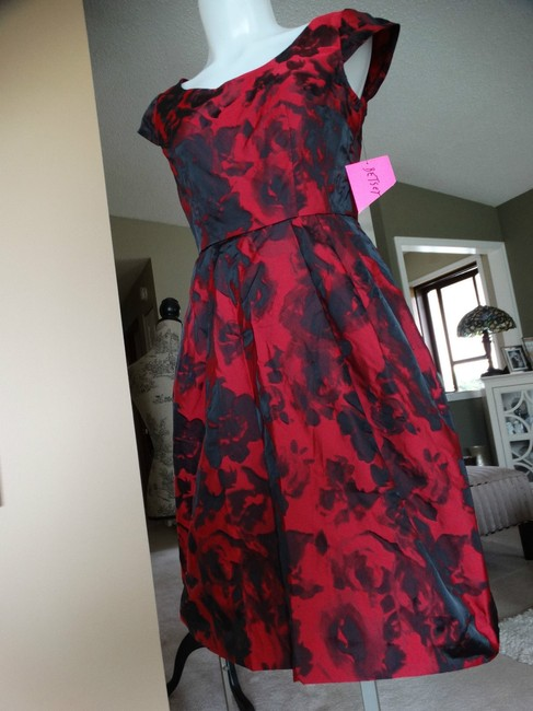 Betsey Johnson Cap Sleeve Zipper Pockets Fit And Flare Dress Image 9