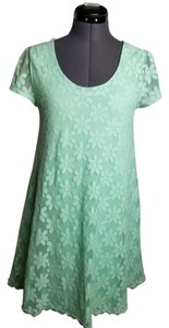 Urban Outfitters short dress Mint, Green Lace Kimchi Blue Mod Floral on Tradesy