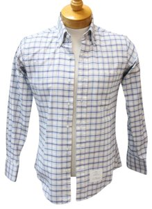 Thom Browne Versace Gucci Snake Chanel Vintage Button Down Shirt Blue / White