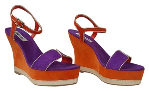 Jennifer Lopez Heels Pump Stiletto Wedge Orange/Purple/Gold Platforms